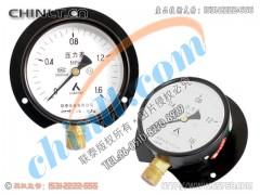 普通径向带后边压力表Y100T(低压)